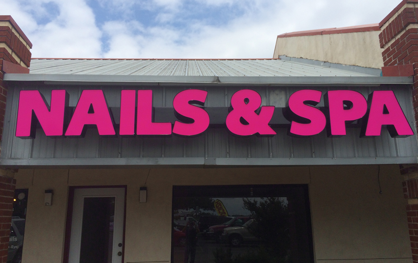 Austin Nails and SpaChannel Letter Signs