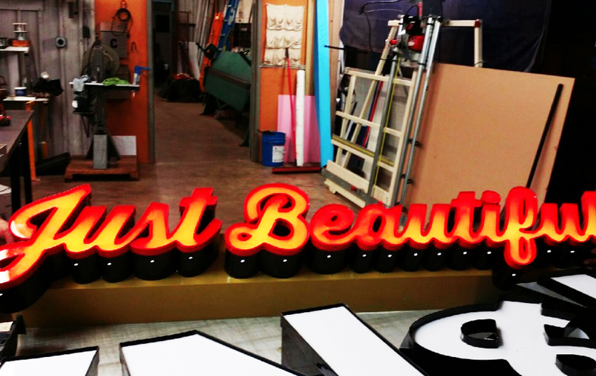 Nails & Spa Switching Neon Signs to LED